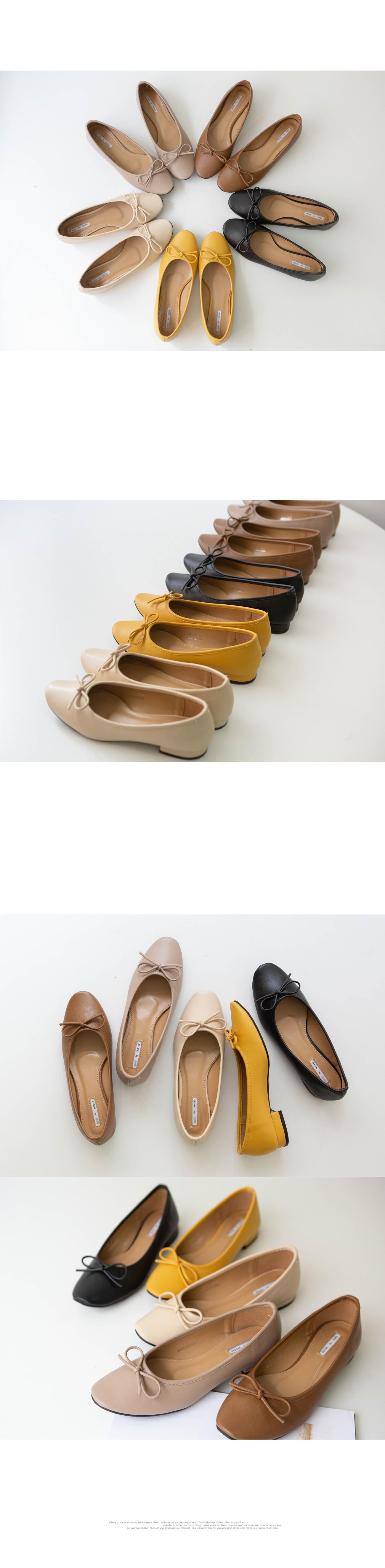 Daily ribbon flat shoes #85448