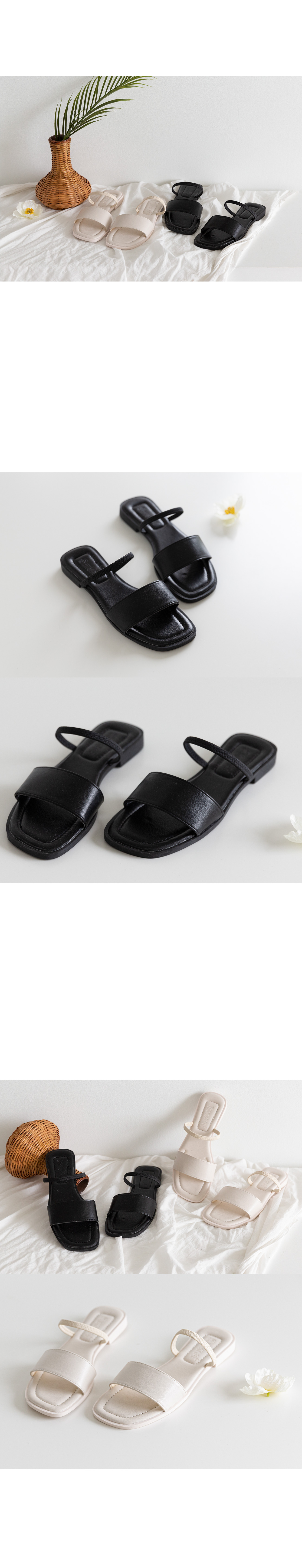 Strap Square Shoes #86238