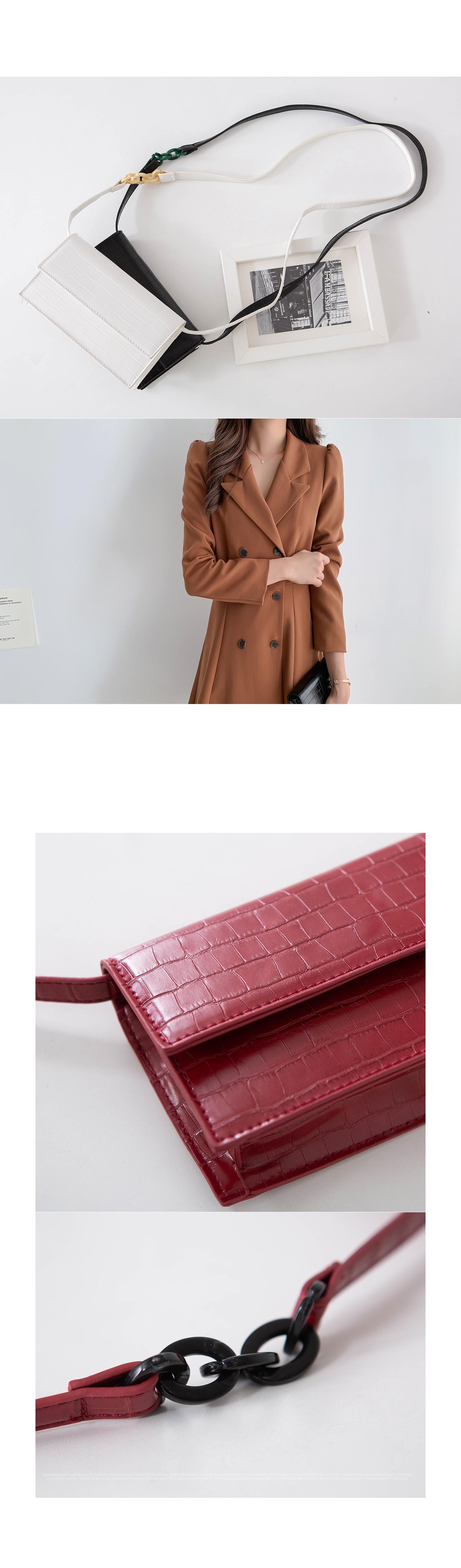 Square Pattern Clutch Bag & Cross Bag #85466