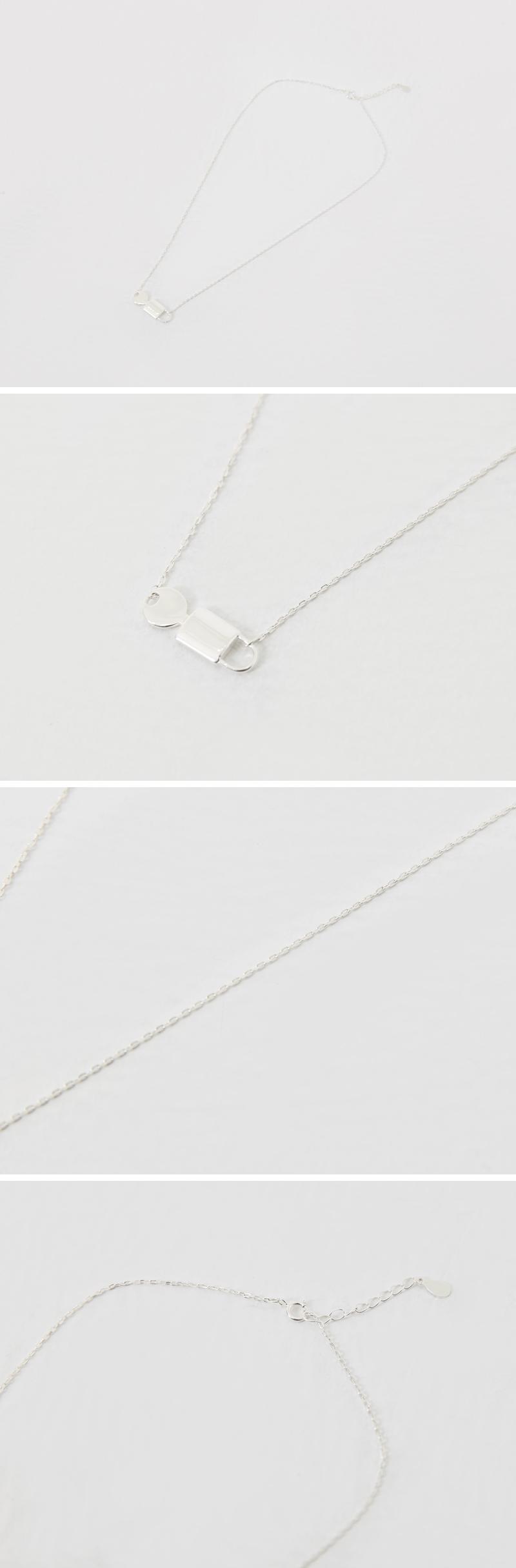 Key in lock pendant necklace