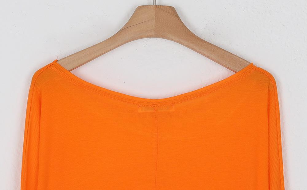 See-through back slit round neck T-shirt