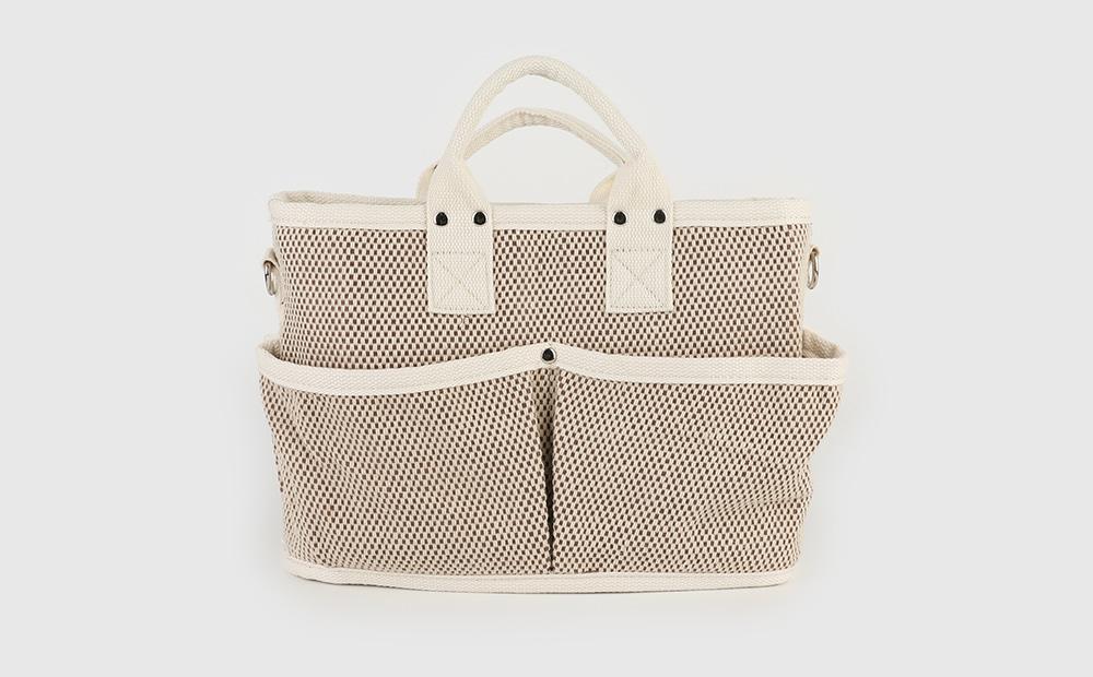 Cotton bucket two-way shoulder bag