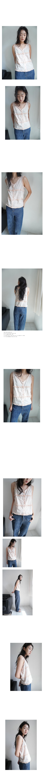 frill point sleeveless blouse
