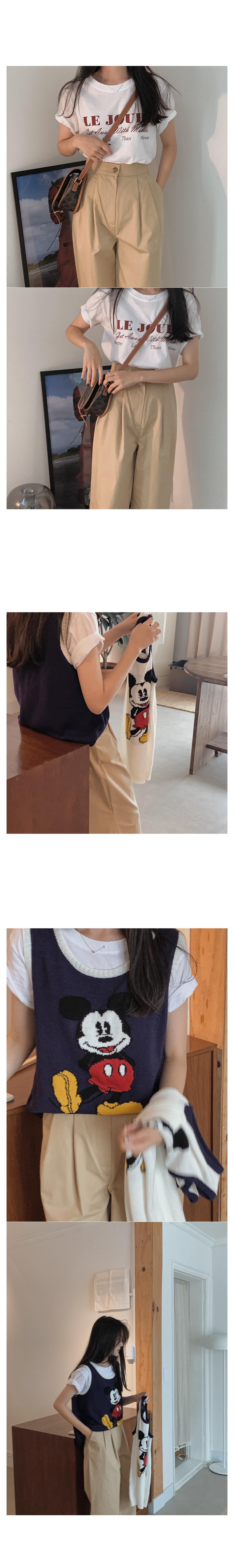 Yusoda lettering short sleeve tee