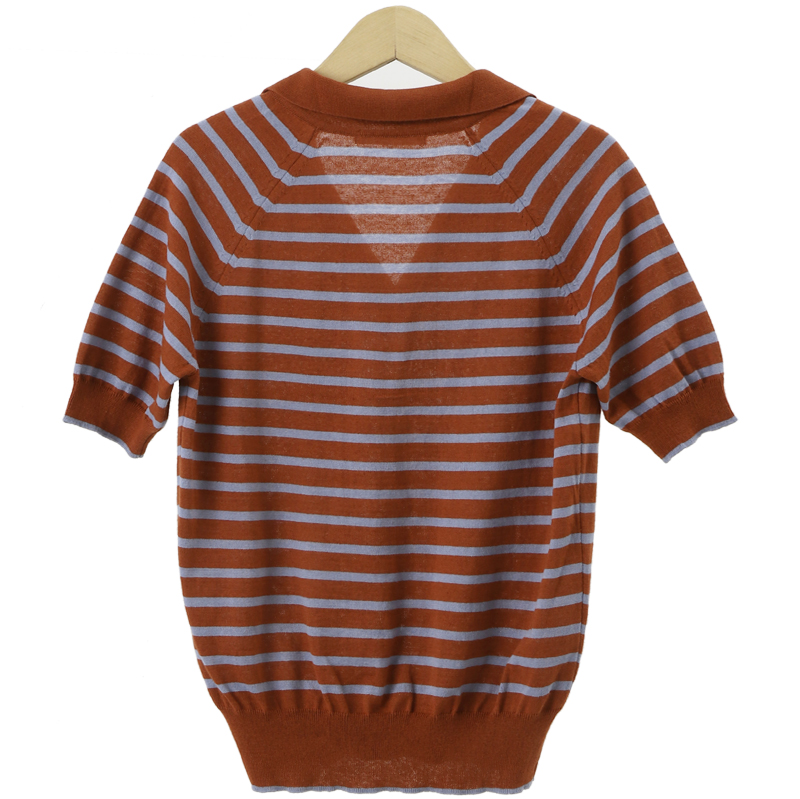 Marine Striped Caravan Sleeve Knit