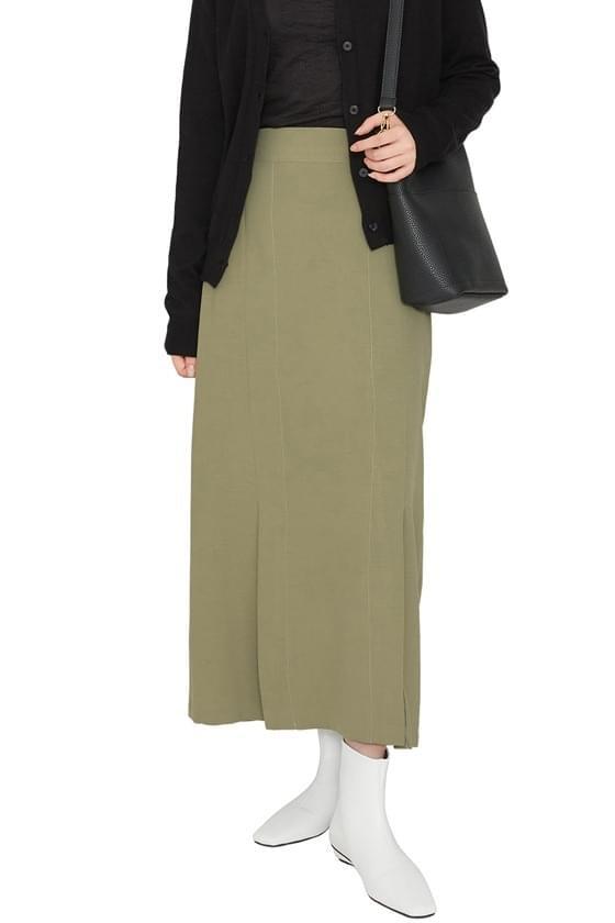 Lucid twin slit maxi skirt 裙子
