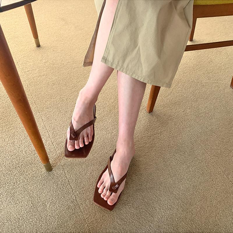 Nut Square Flip Flops Slippers