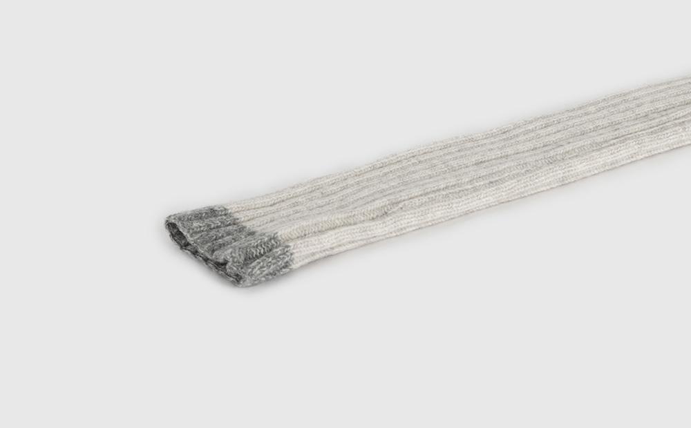 Knit long wool warmer