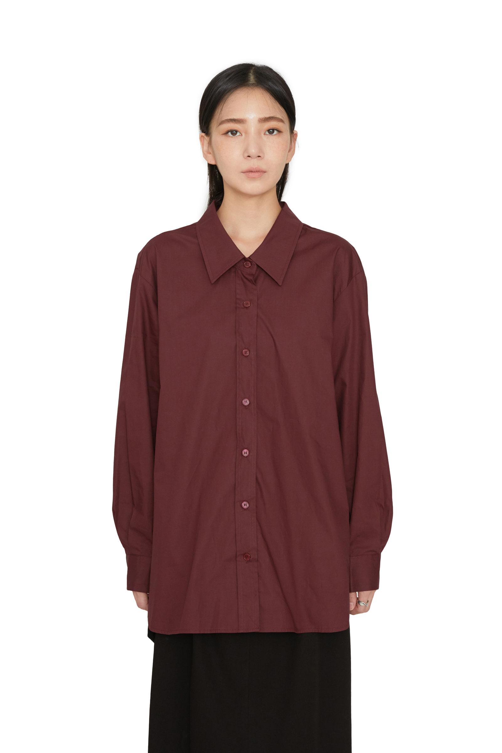 Autumn Simple Over Cotton Shirt