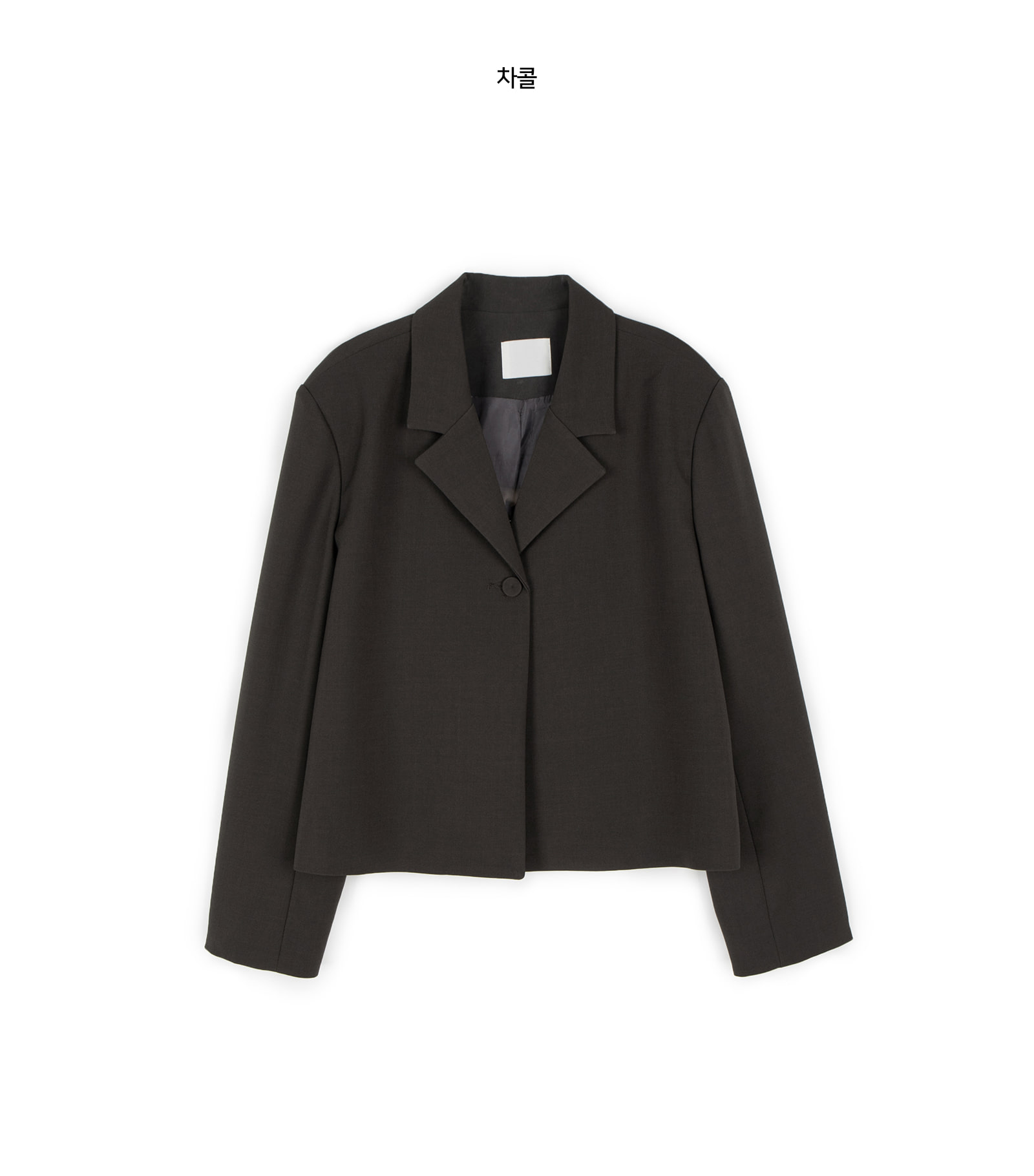 Marang one-button cropped single jacket