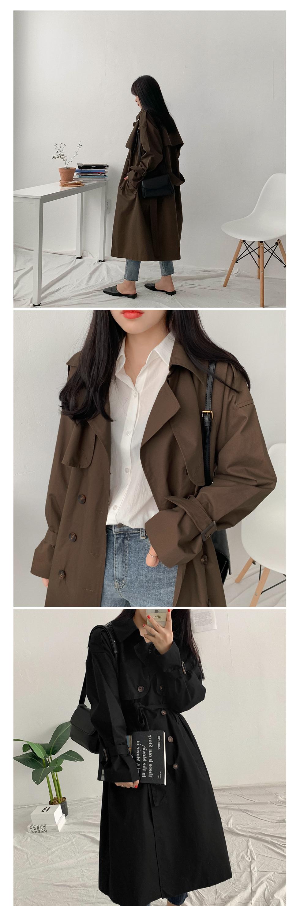 Reversible trench coat