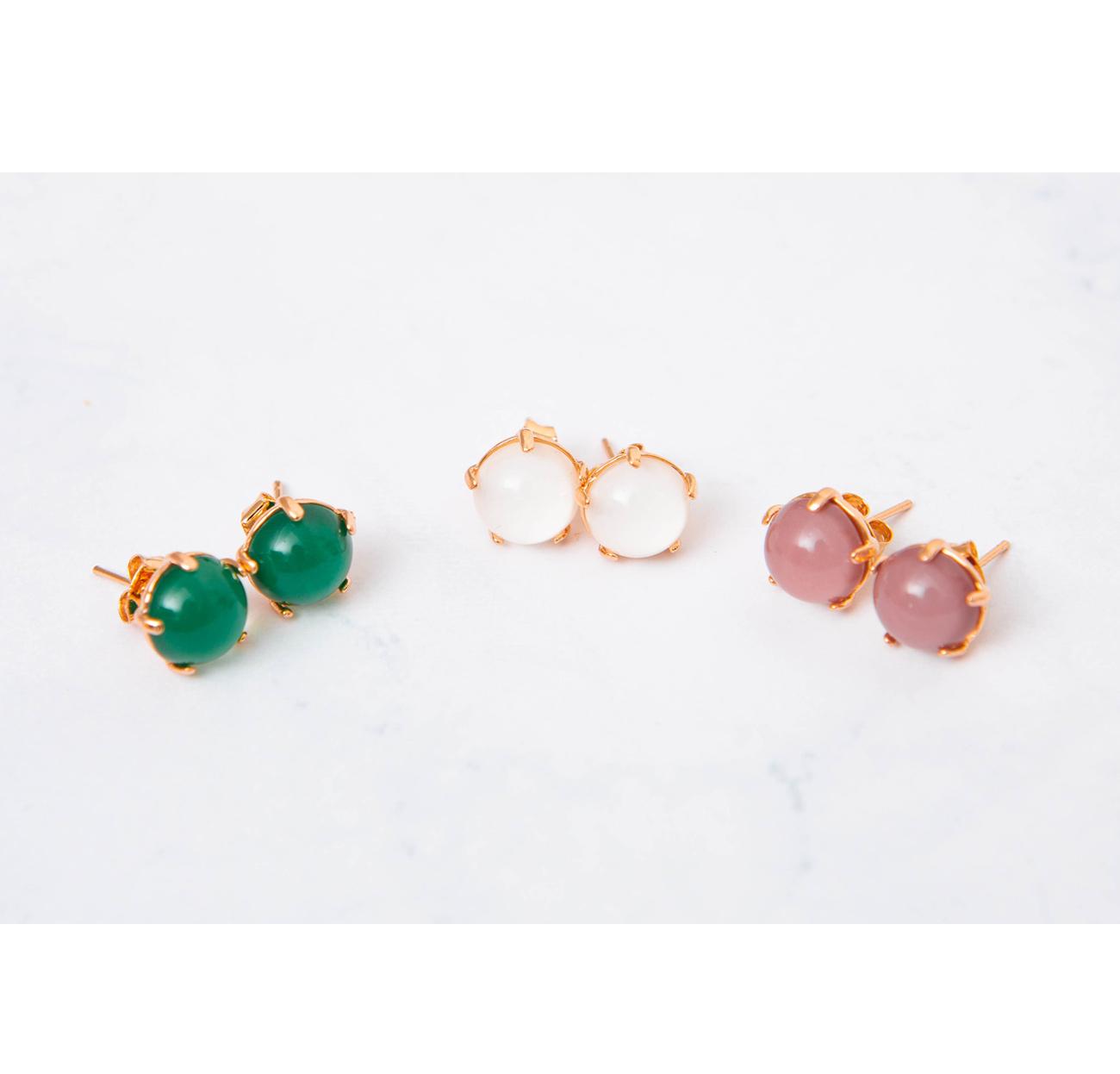 Camellia ball earrings #85941