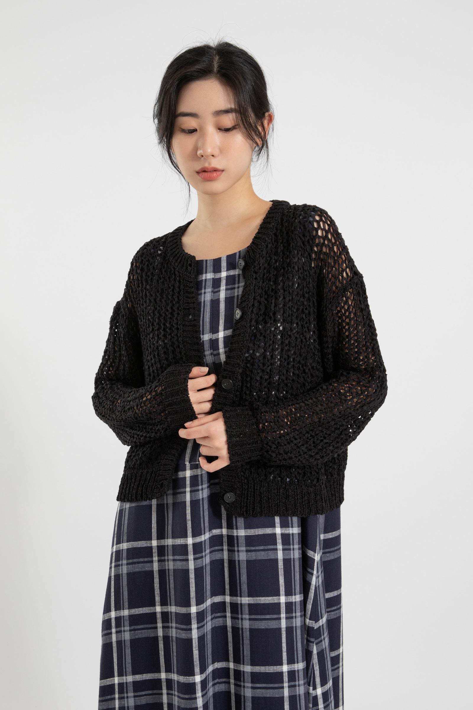 Rare linen check maxi dress