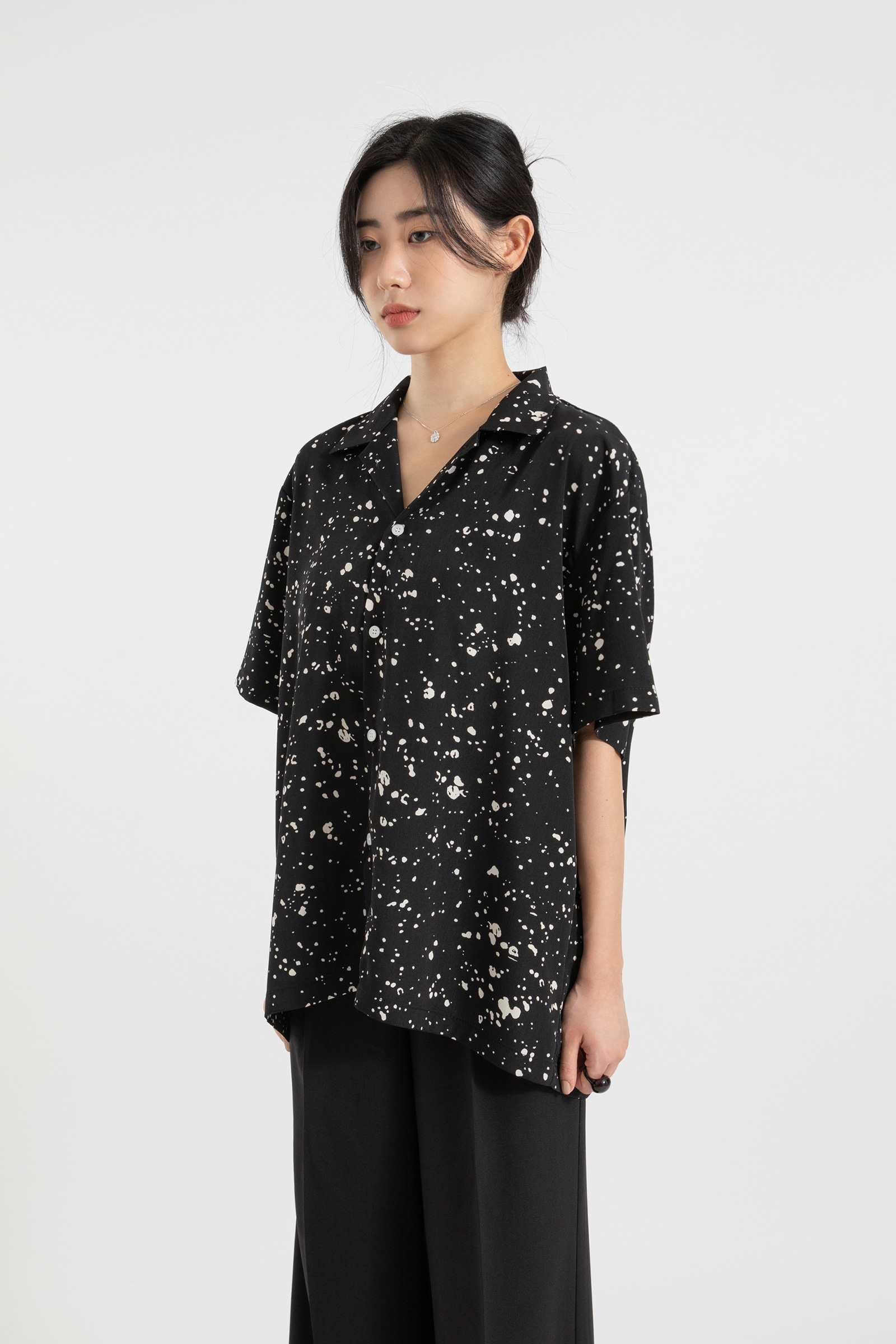 Painting pattern over half shirt