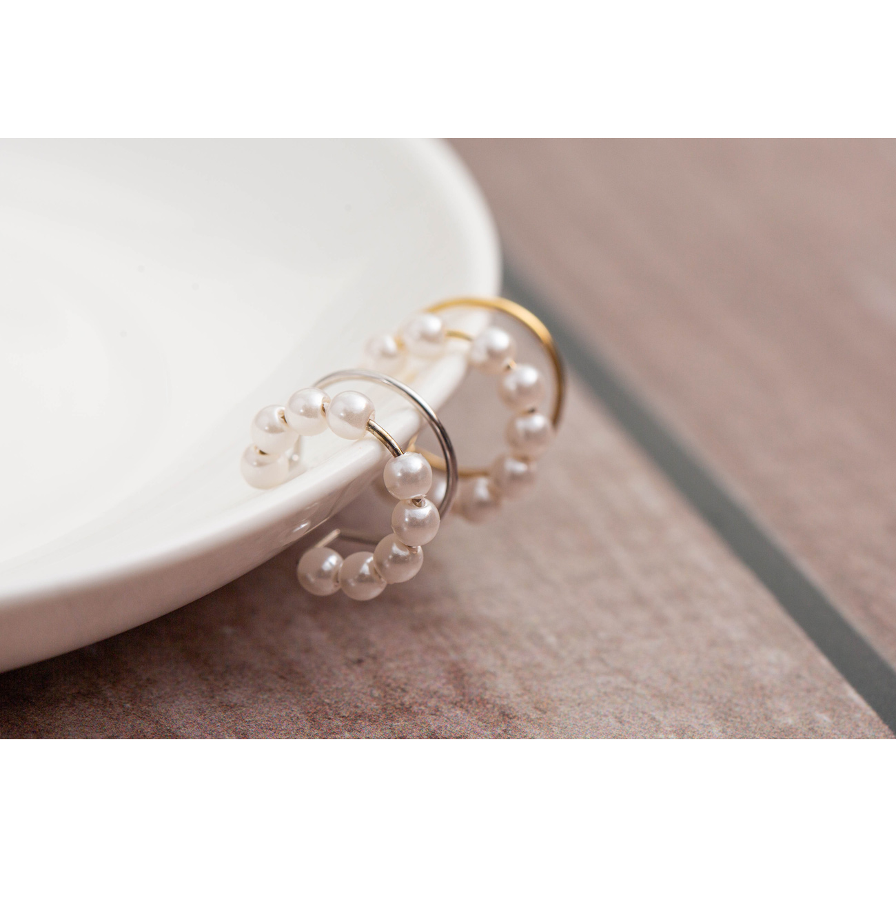 Two-row pearl necklace #85984