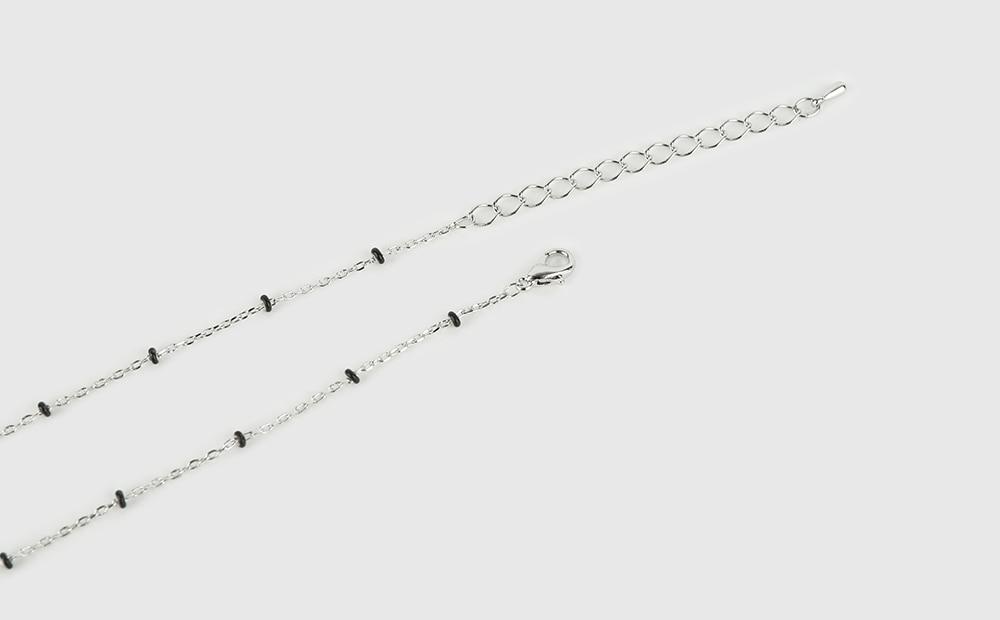 Wreath dot line necklace