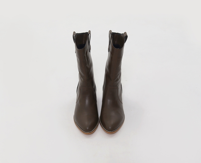Again Western Angle Boots
