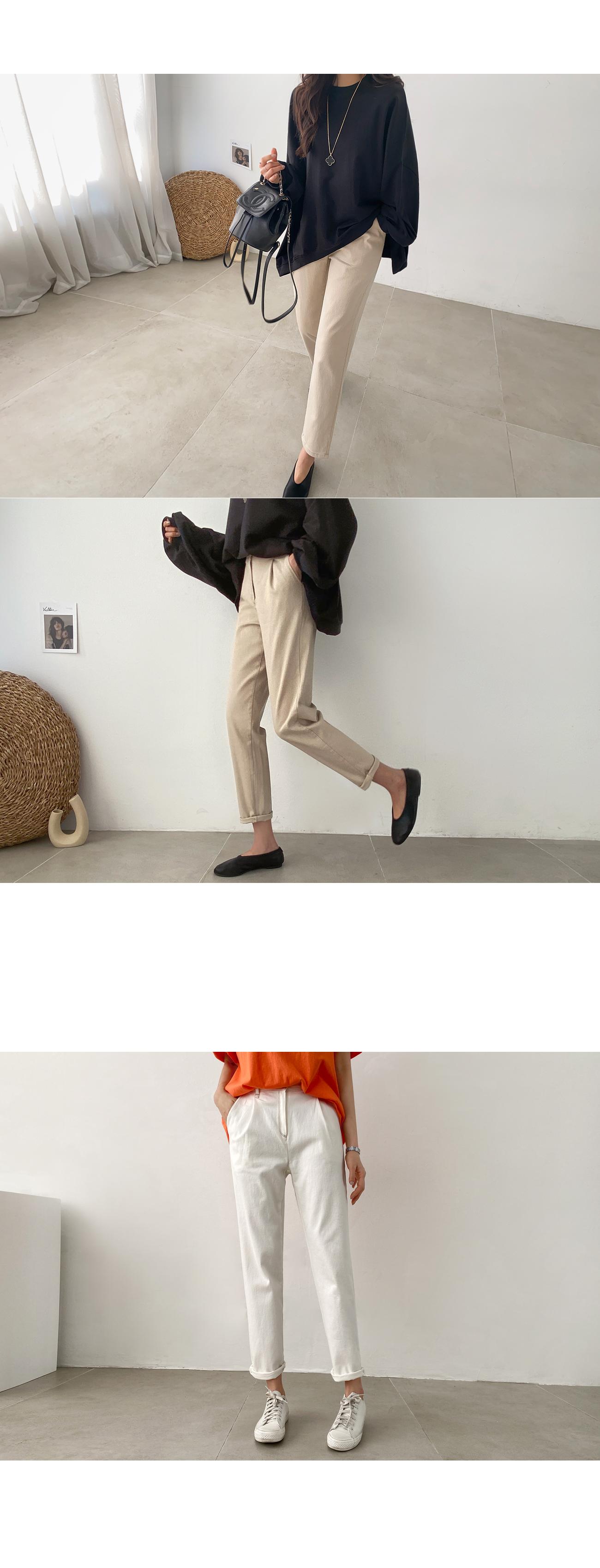 Pintuck Stitch Baggy Pants #75653