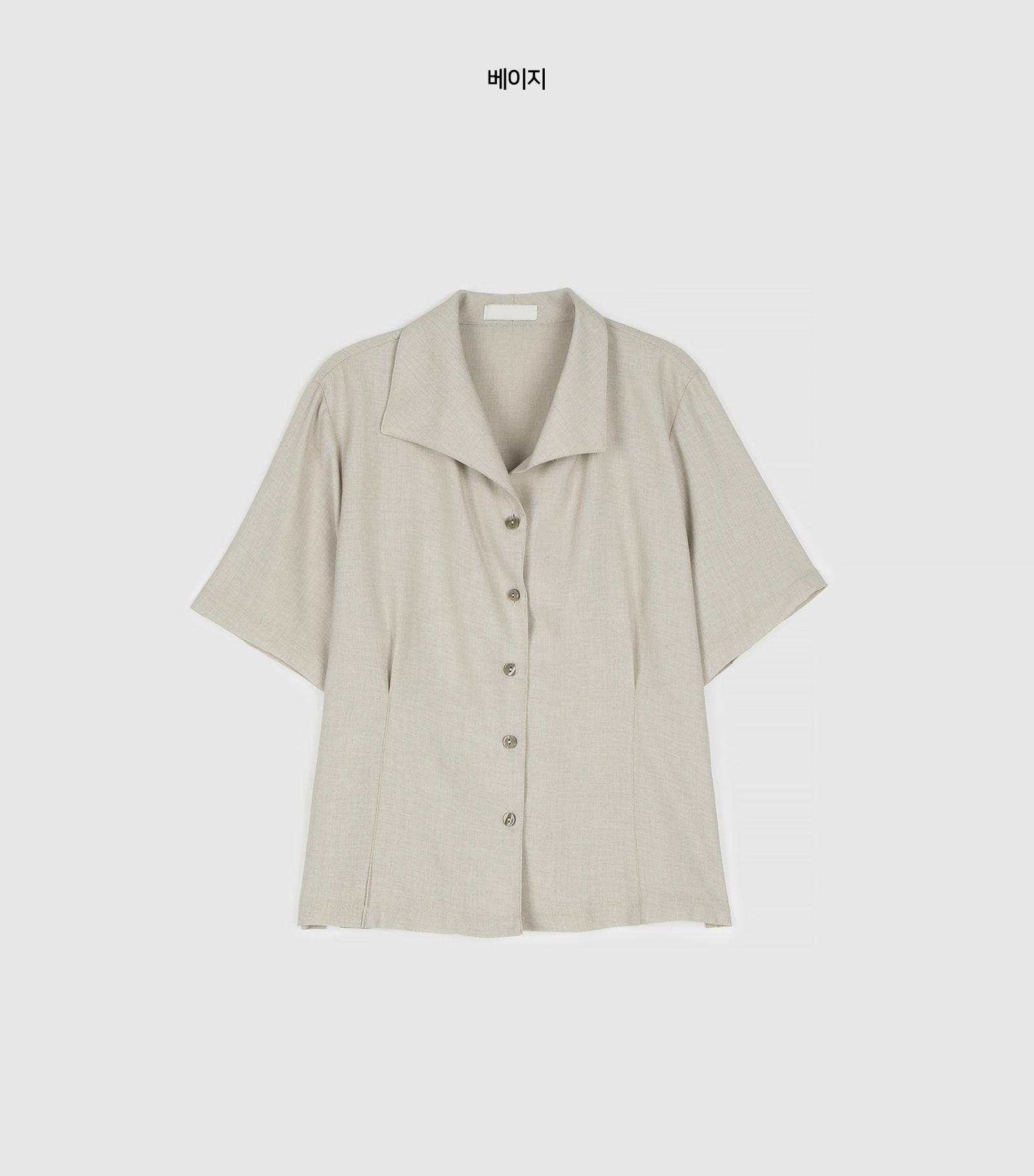 Denny simple collar neck blouse