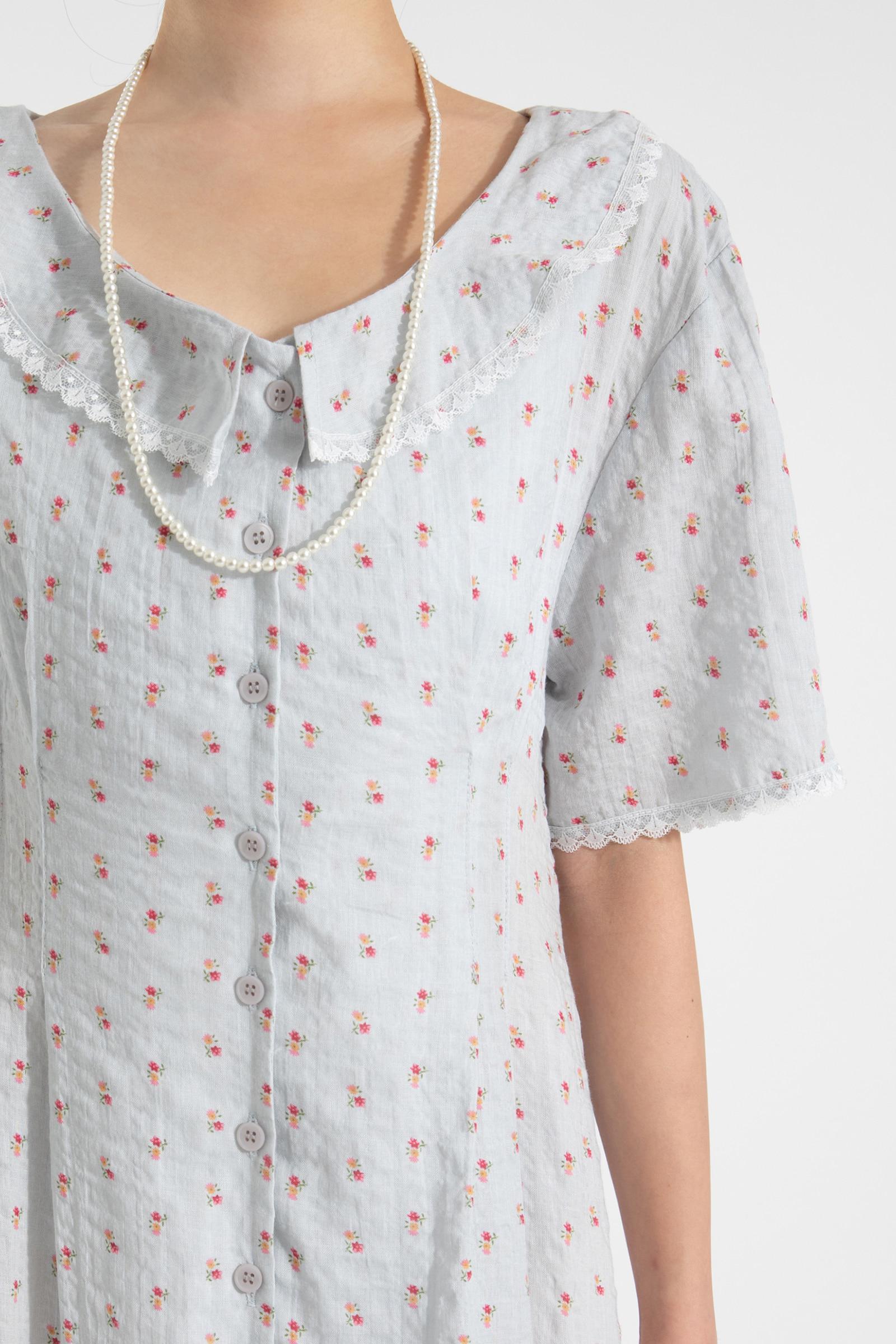 Adele floral collar maxi dress