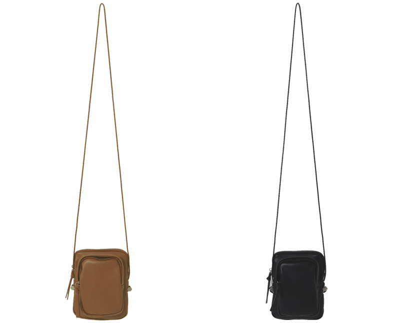 Double Pocket String Cross Bag
