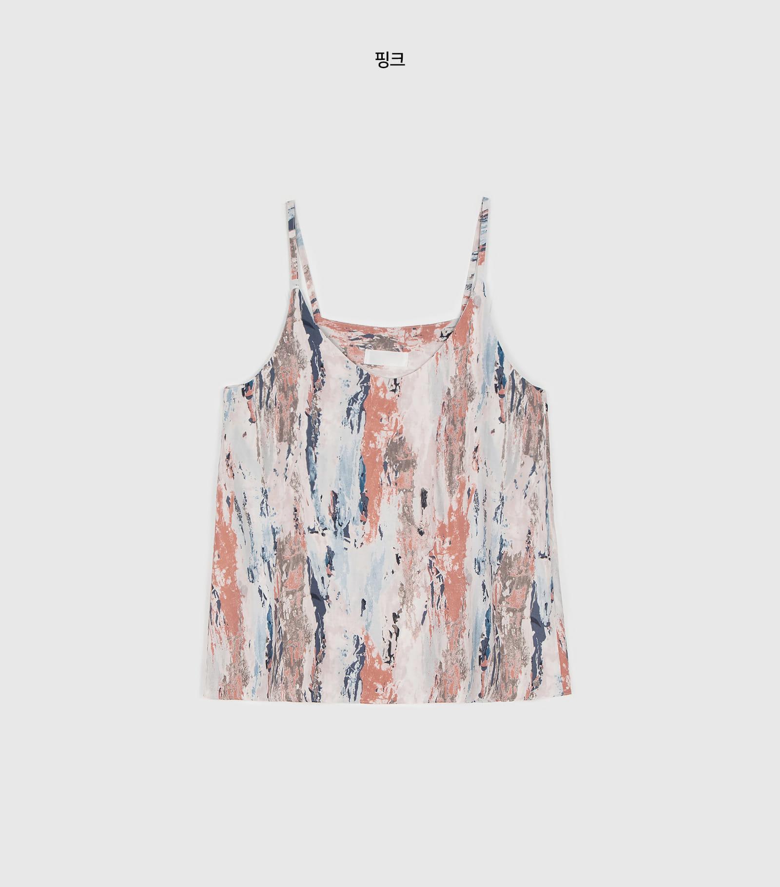 Summer drawing pattern sleeveless top