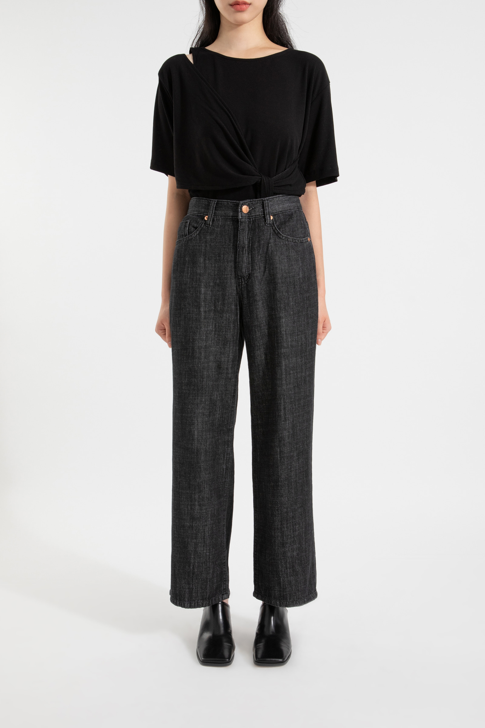 Brain high-rise straight jeans