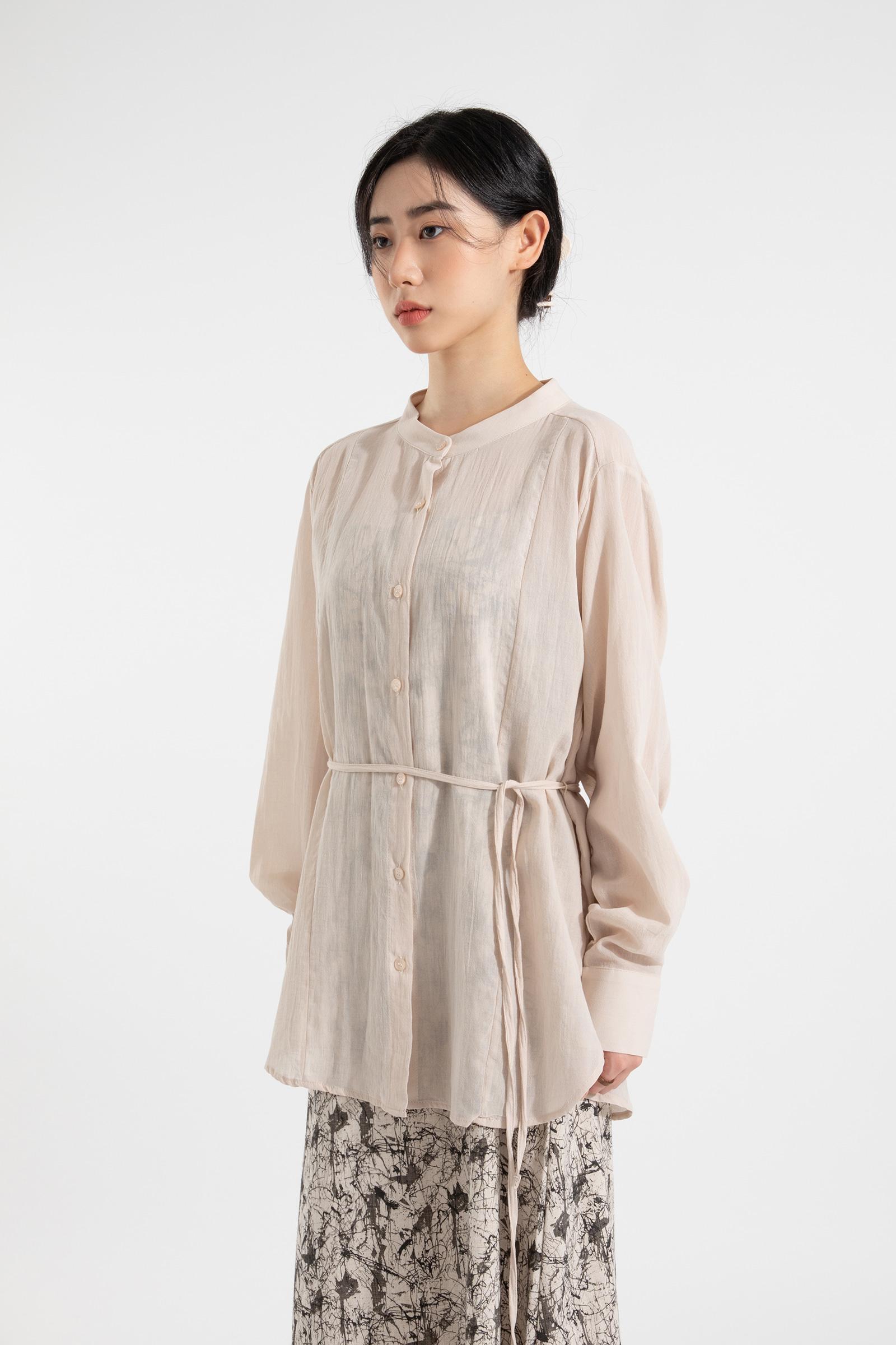 Dorothy strap round neck blouse