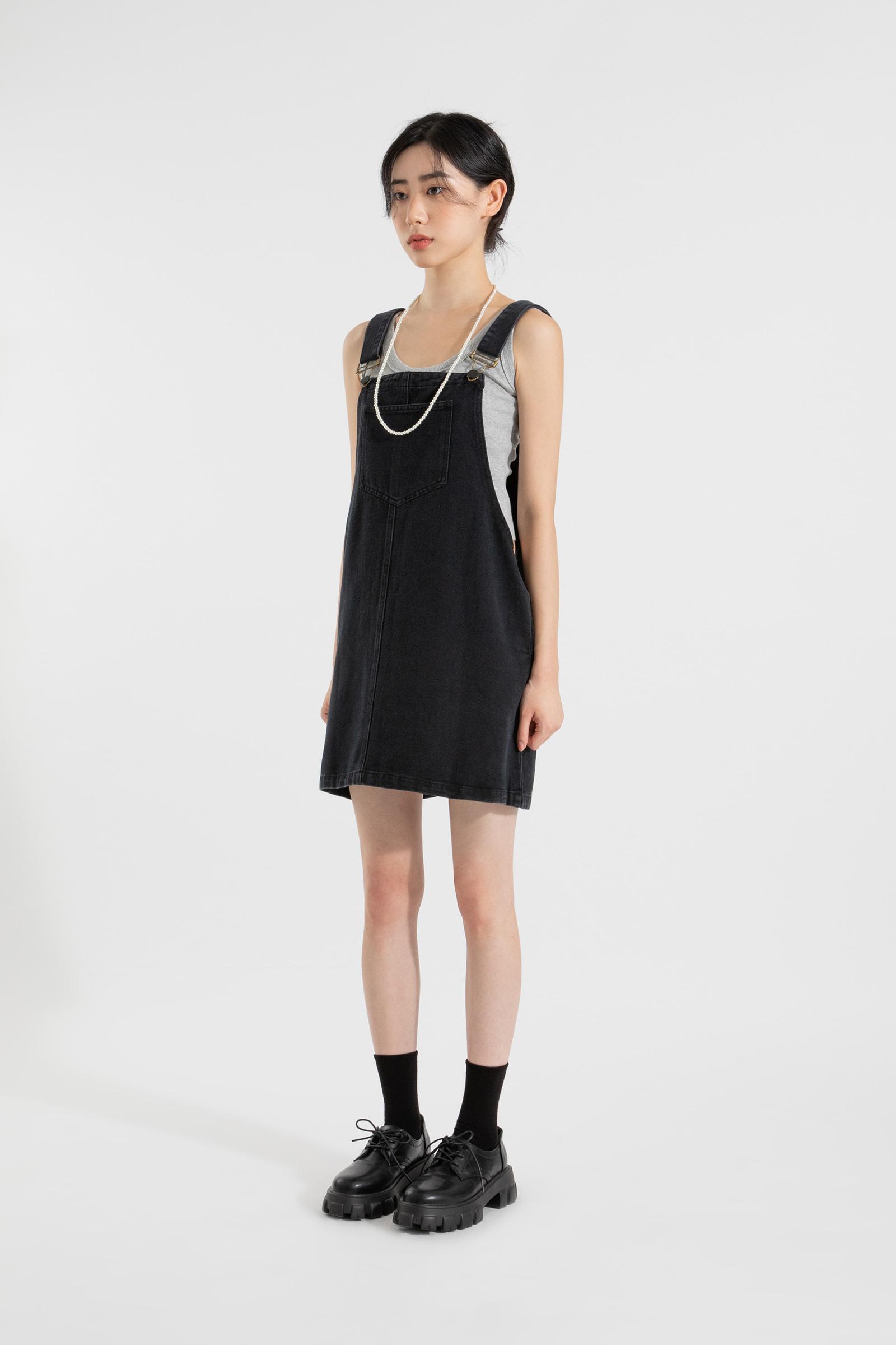 Cassette suspender mini dress