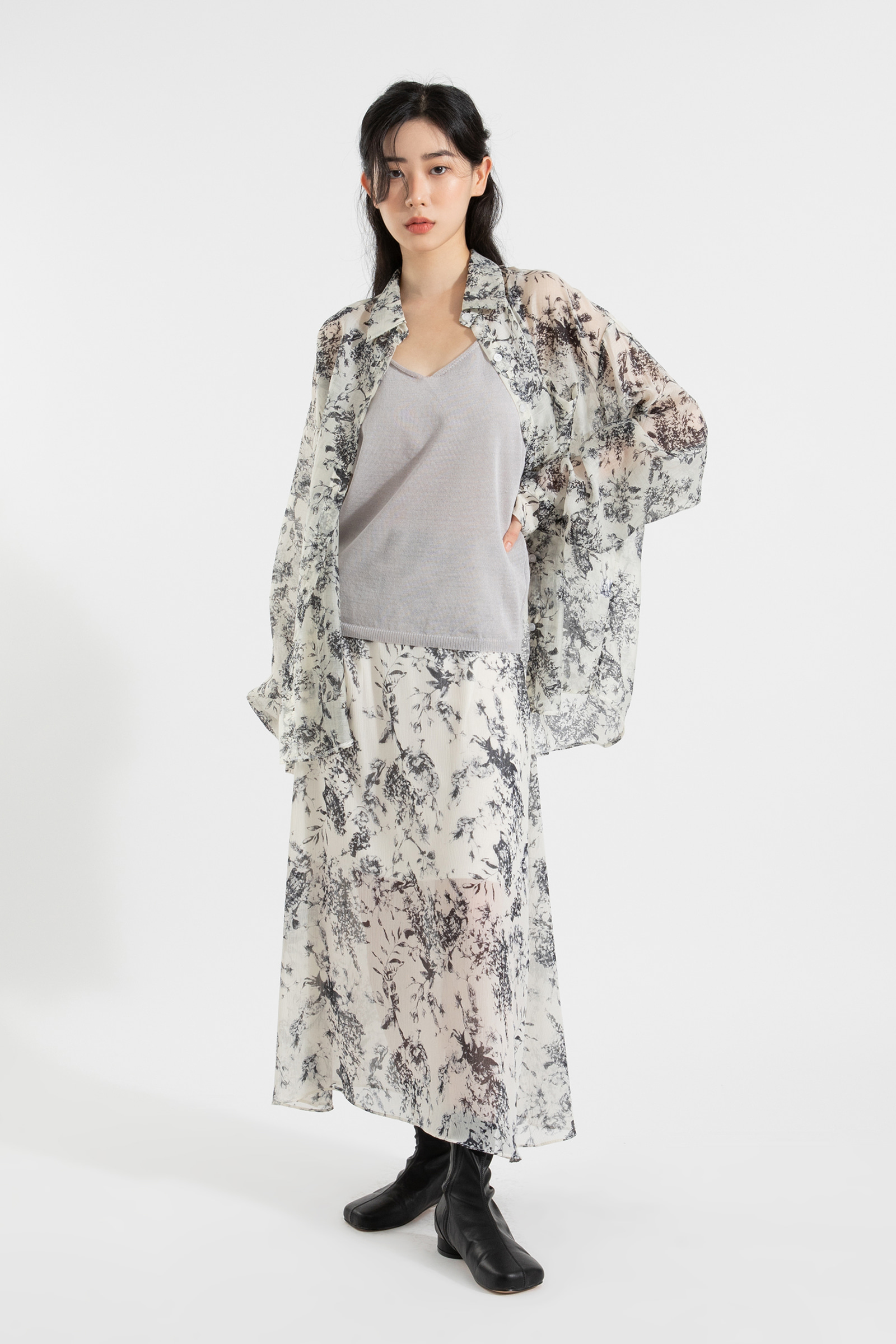 Linen twist sleeveless knit