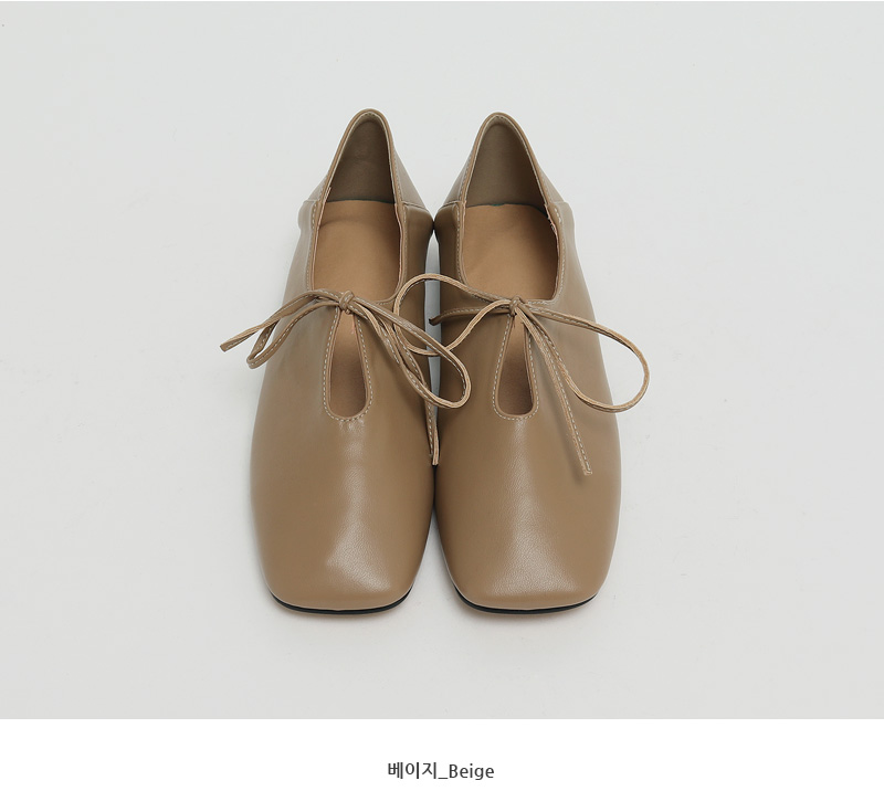 Ribbon string flat shoes_C