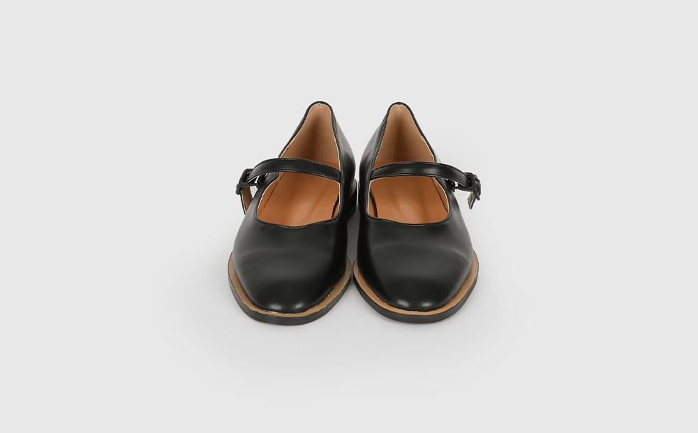 Sarah buckle flat shoes