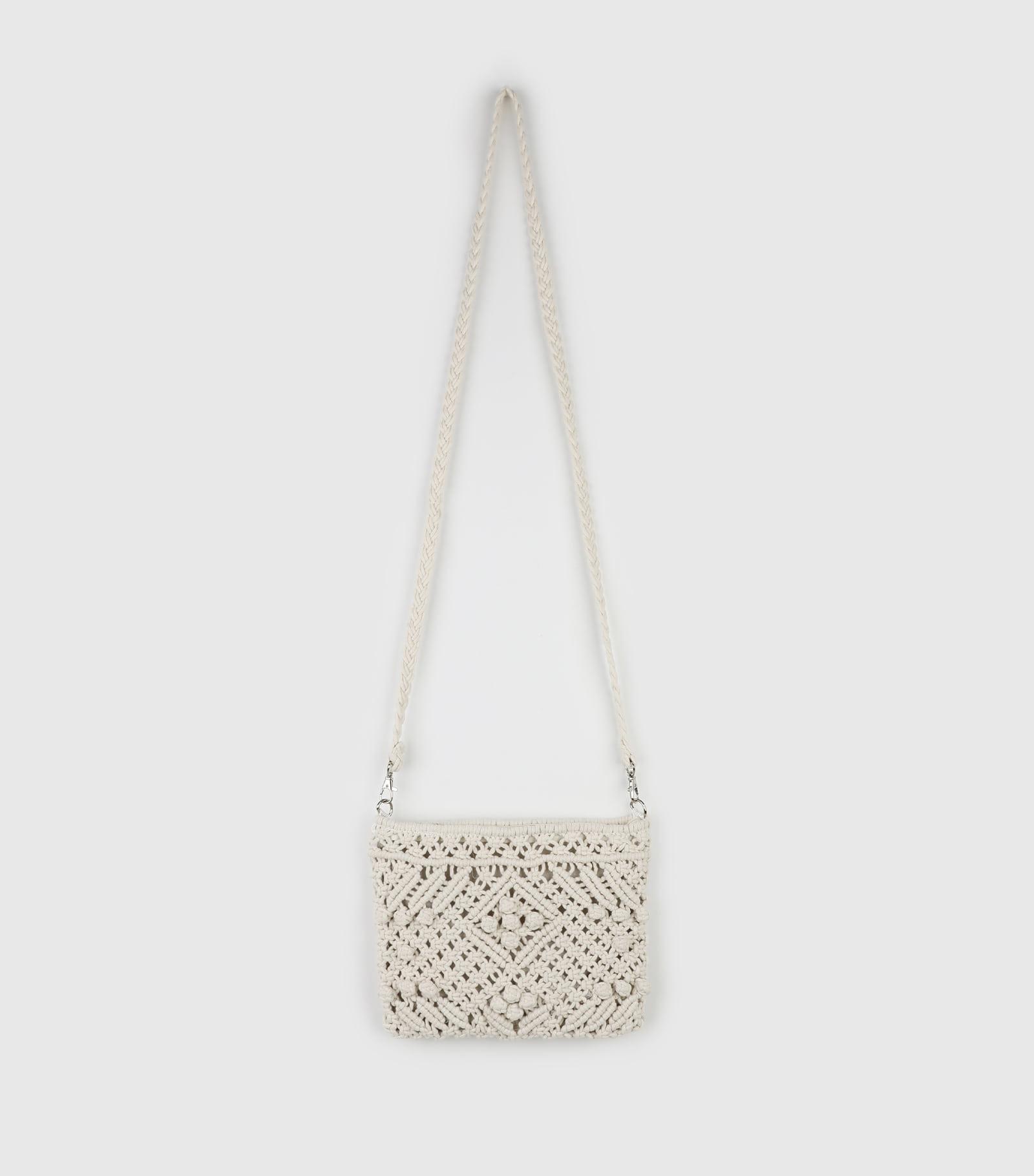 Weave cotton cross shoulder bag