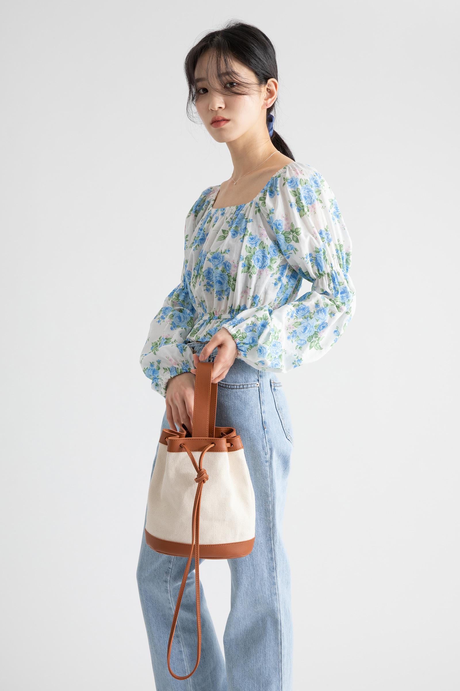 Leaf multi-cross tote bag