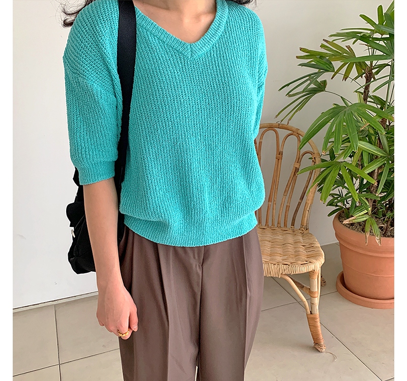 Lacie color half knit_P