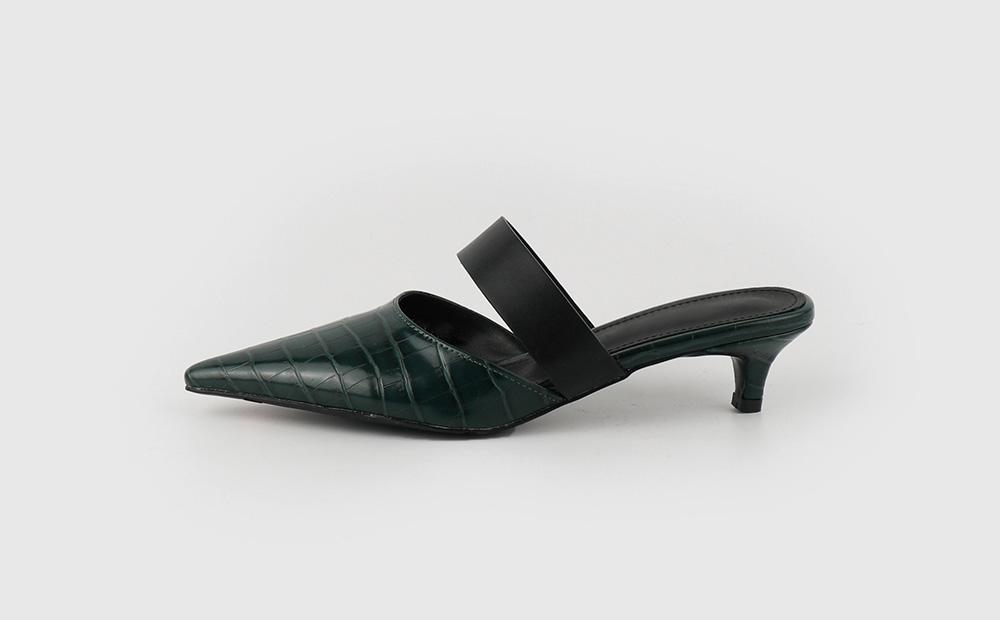 Dance animal pattern middle heel mule