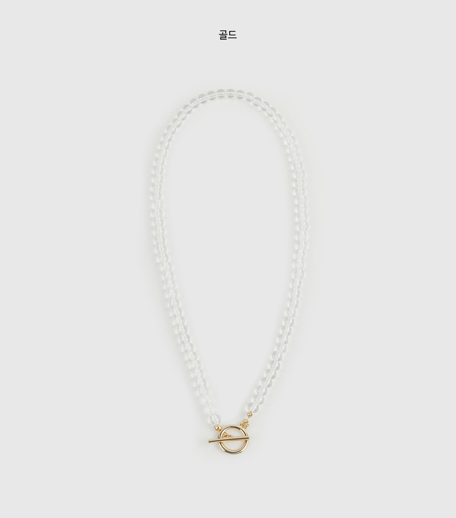 Mary clear necklace