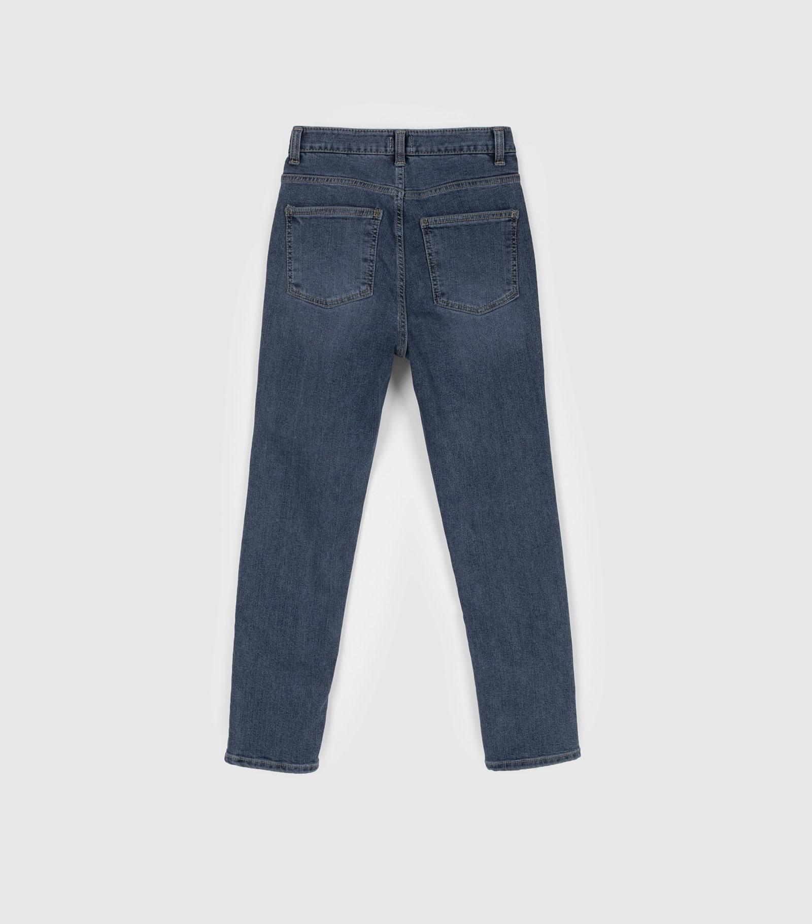 Comfy tension brushed slim jeans
