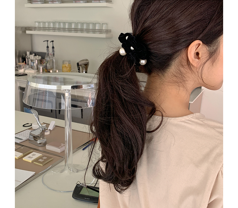 Pearl point hair string_J