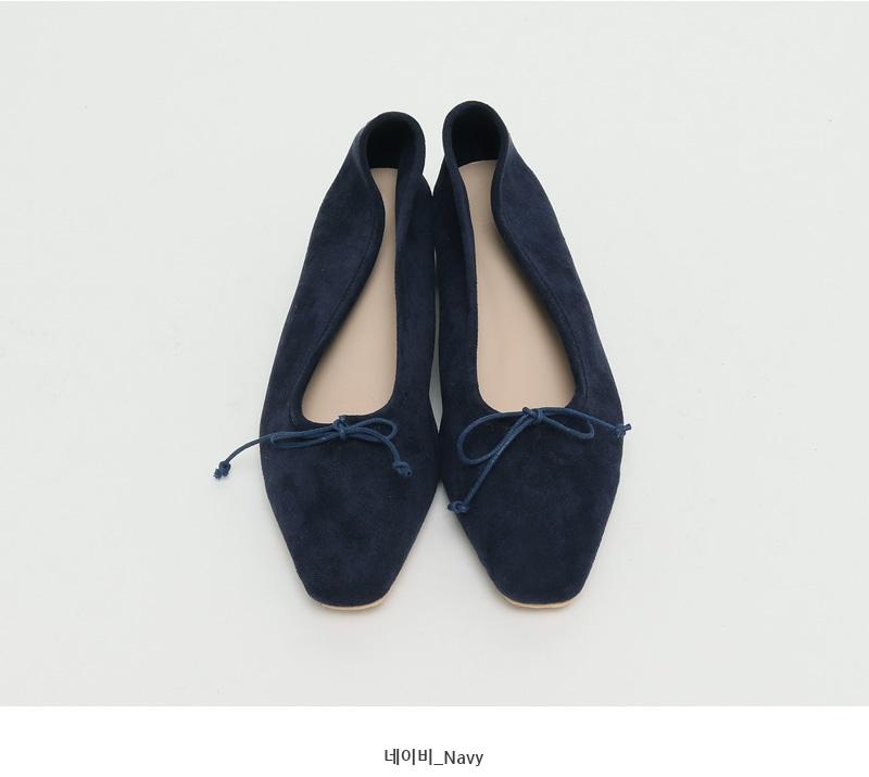 Cure ribbon suede shoes_C