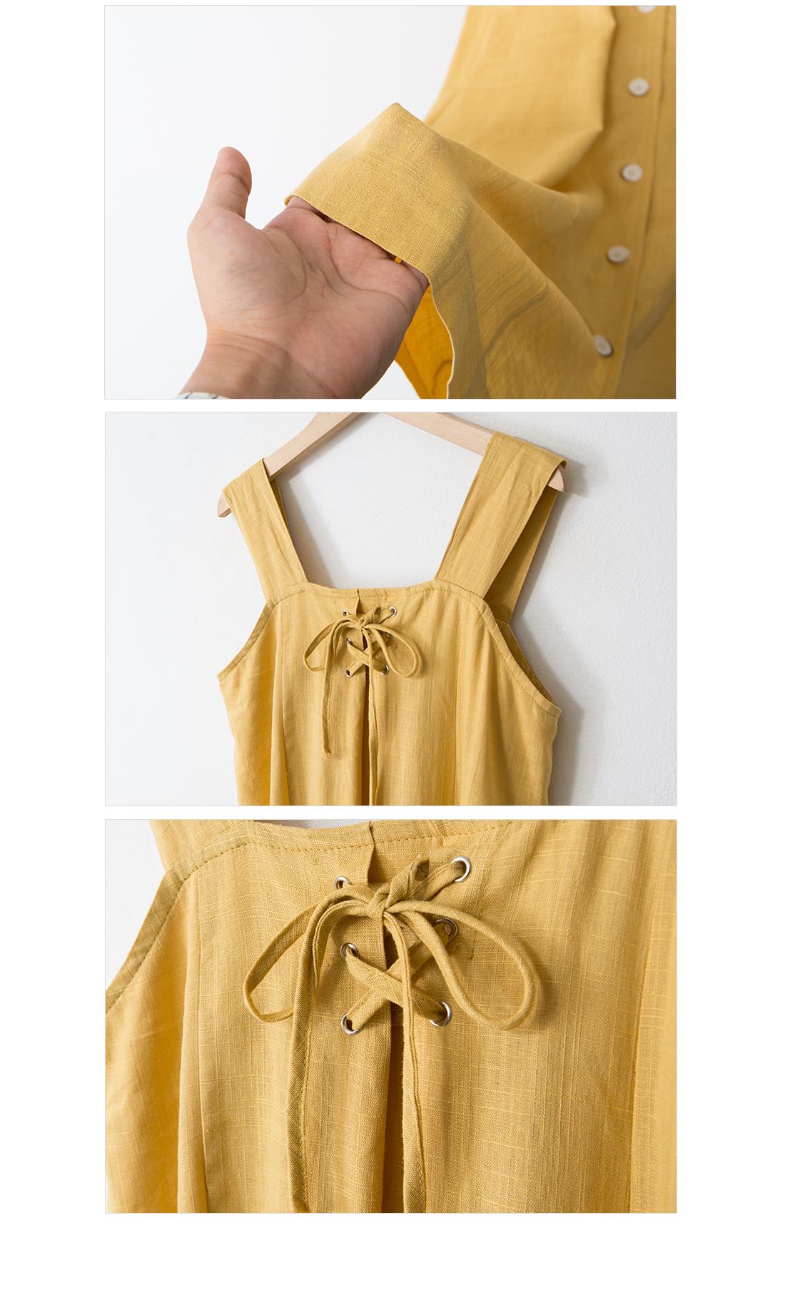 Celling's Sleeveless Long Dress #35473