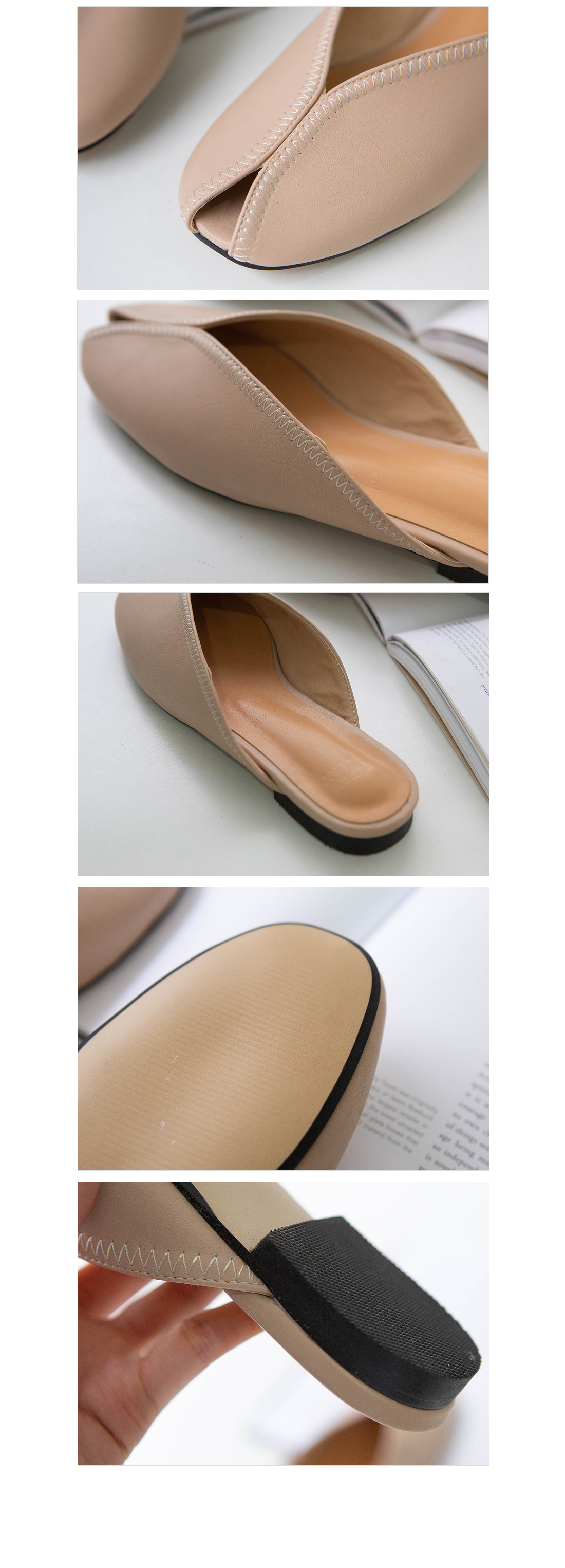 Modern front nose open shoes #85396