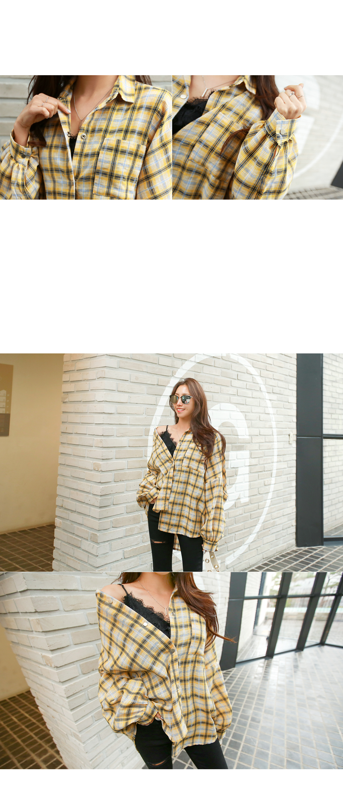 Bape Check Loose Fit Southern #44033