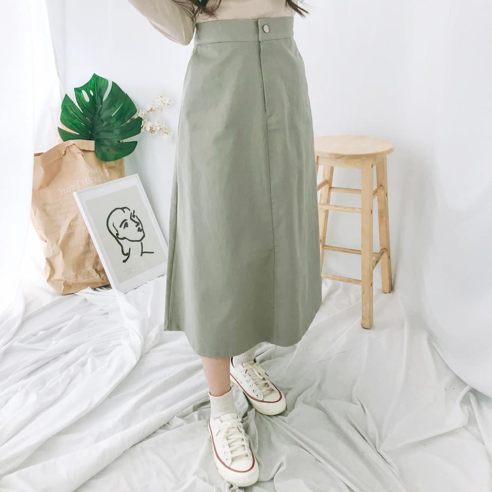 韓國空運 - F smoke A line long skirt 裙子