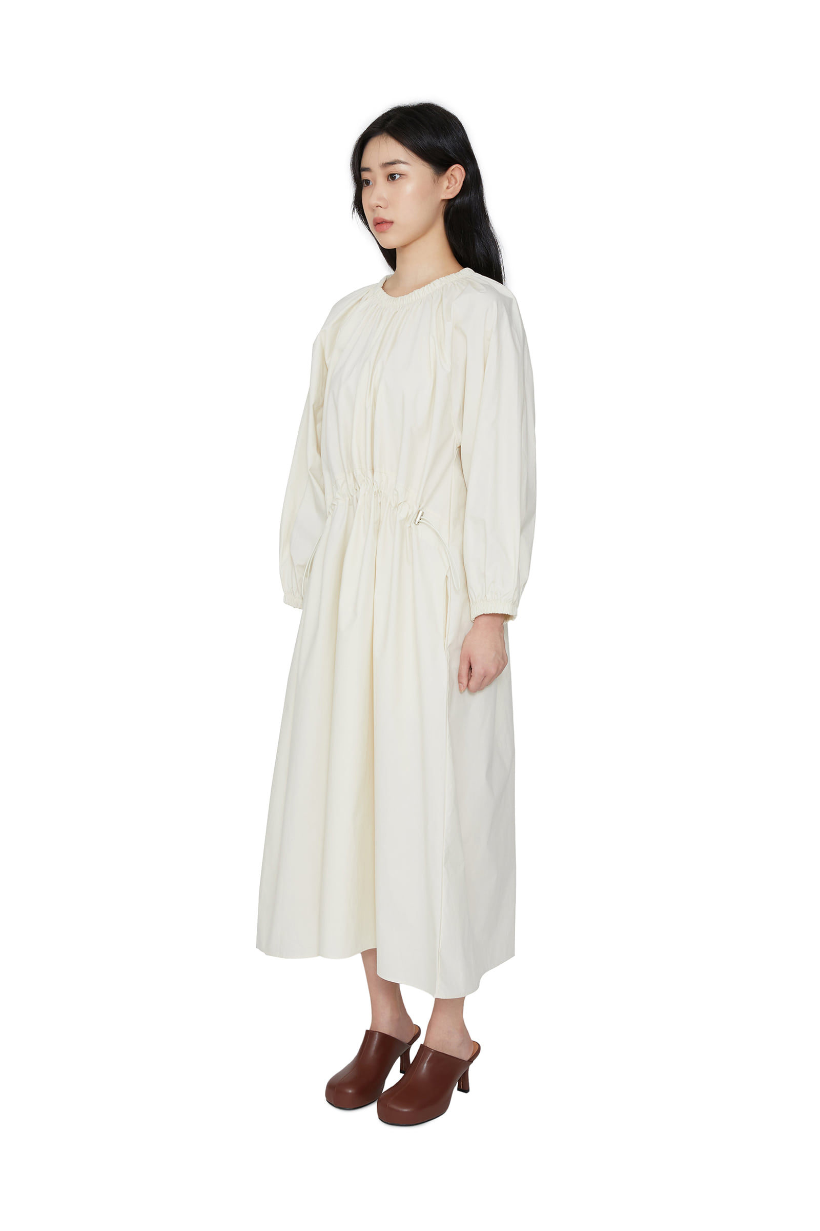 French banding stopper maxi dress