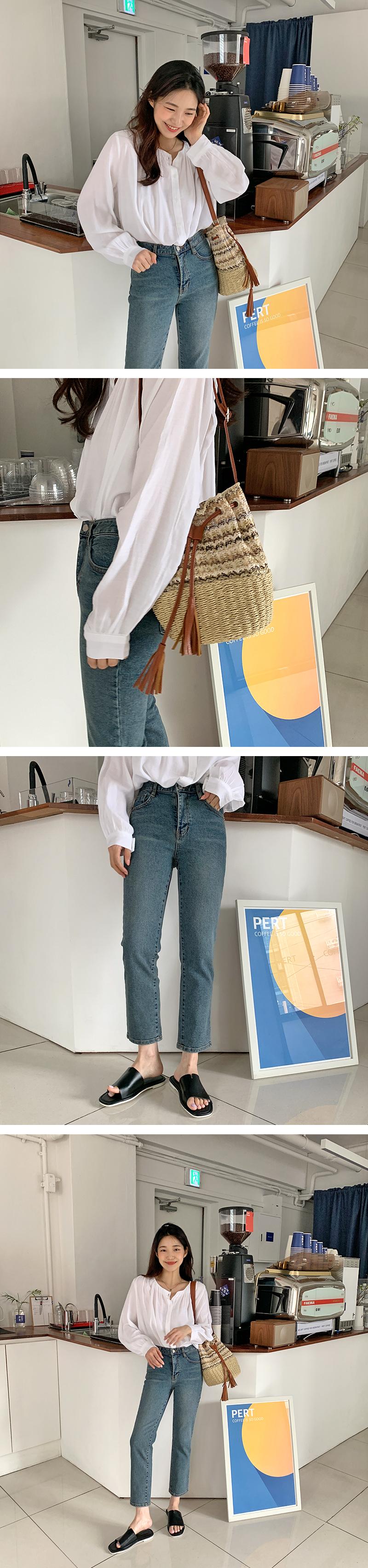 Missy Rattan Bucket Shoulder Bag