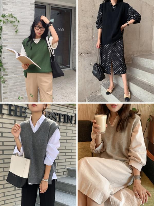 Bass Wool Knit Vest