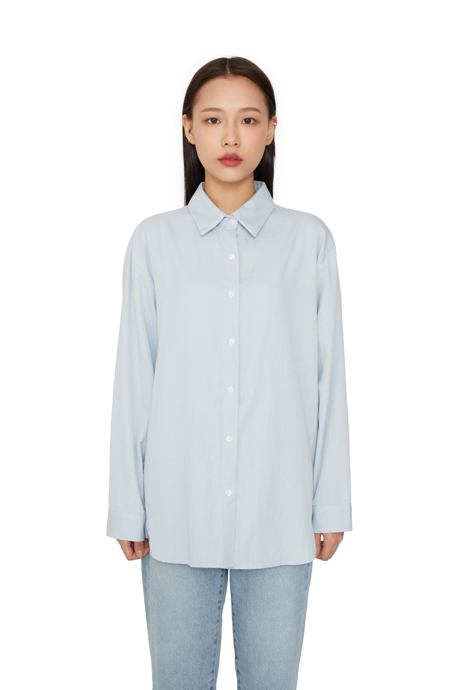Normal Poplin Button Standard Shirt