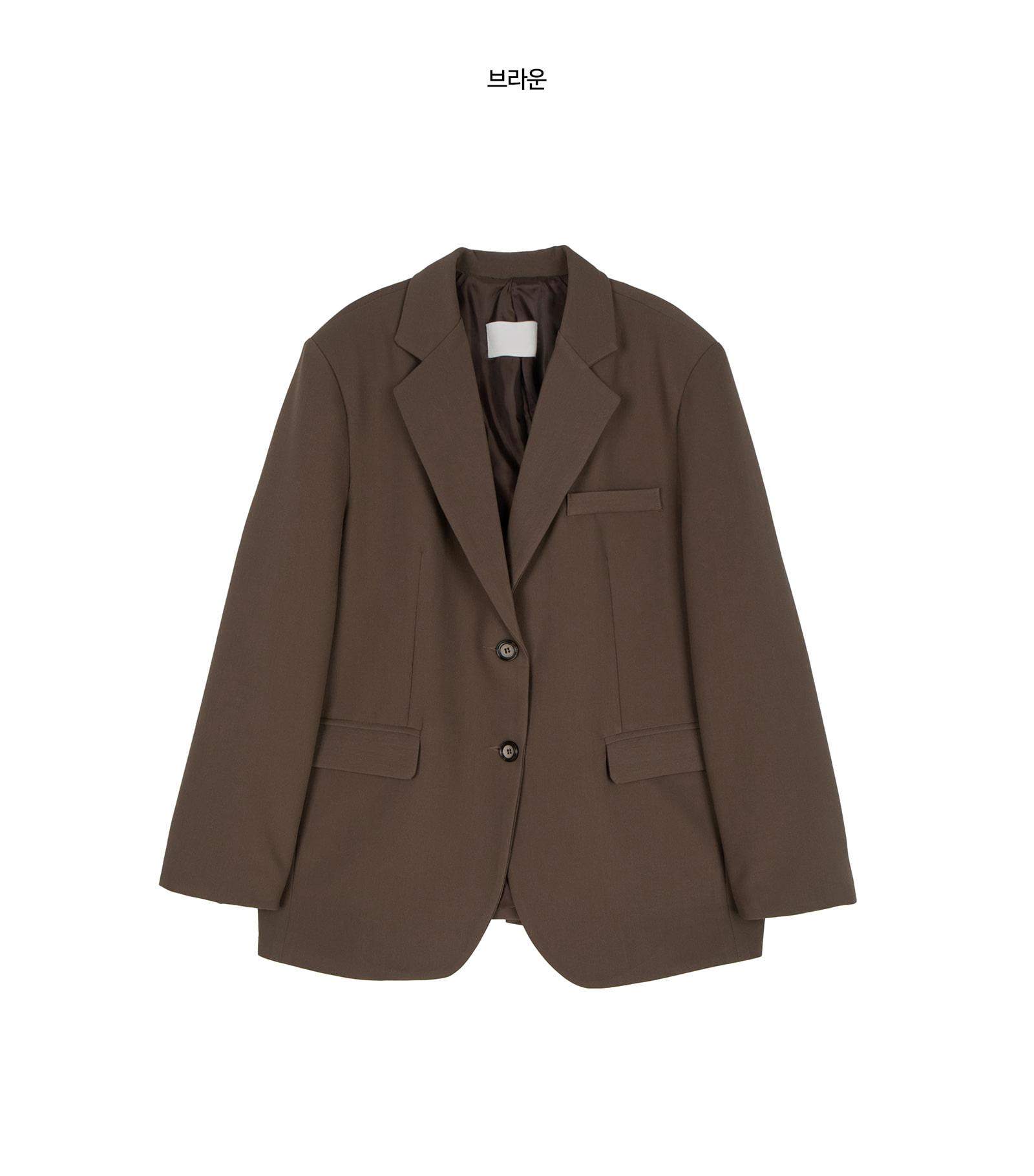Gentle notched single blazer