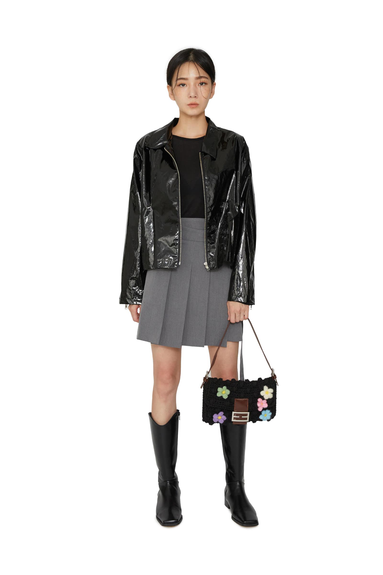 Kitsch pleated wrap mini skirt